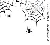 scary spider web. vector... | Shutterstock .eps vector #1200601144