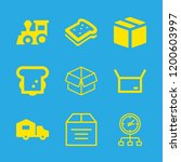 delivery icons set with package ... | Shutterstock .eps vector #1200603997