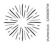 vintage sunburst explosion.... | Shutterstock .eps vector #1200608734