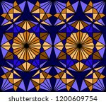 geometric seamless pattern....   Shutterstock .eps vector #1200609754