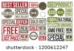 stamp set. stamps  sold out ... | Shutterstock .eps vector #1200612247