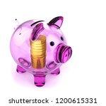 piggybank violet translucent... | Shutterstock . vector #1200615331