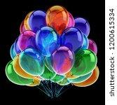 helium balloons bunch... | Shutterstock . vector #1200615334