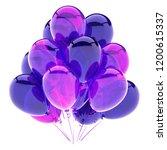 purple balloons bunch  birthday ... | Shutterstock . vector #1200615337