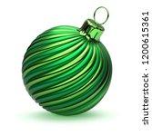green christmas ball decoration ... | Shutterstock . vector #1200615361