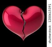 broken heart shape red. failure ... | Shutterstock . vector #1200615391