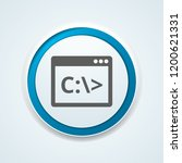 command prompt button... | Shutterstock .eps vector #1200621331