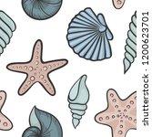 seashell seamless pattern.... | Shutterstock .eps vector #1200623701