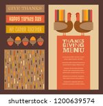 happy thanksgiving and autumn... | Shutterstock .eps vector #1200639574