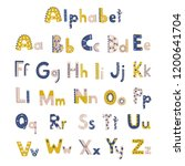 vector cute alphabet letters set | Shutterstock .eps vector #1200641704