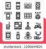 collection of 16 electronic... | Shutterstock .eps vector #1200644824