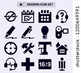 collection of 16 pictogram... | Shutterstock .eps vector #1200649591