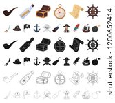 pirate  sea robber cartoon... | Shutterstock .eps vector #1200652414