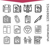 collection of 16 pen outline... | Shutterstock .eps vector #1200654421