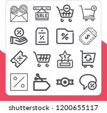 collection of 16 discount...   Shutterstock .eps vector #1200655117