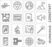 collection of 16 play outline... | Shutterstock .eps vector #1200657697