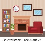 living room place with sofa | Shutterstock .eps vector #1200658597