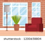 living room place with sofa | Shutterstock .eps vector #1200658804