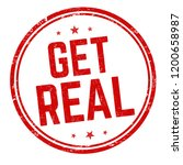 get real sign or stamp on white ... | Shutterstock .eps vector #1200658987