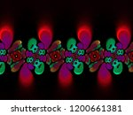 a hand drawing pattern made of... | Shutterstock . vector #1200661381