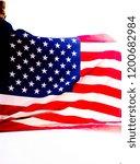 bright colored american flag... | Shutterstock . vector #1200682984
