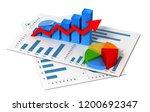 business finance graph chart 3d ... | Shutterstock . vector #1200692347