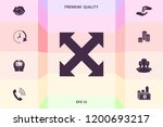 extend  resize  enlarge icon | Shutterstock .eps vector #1200693217