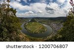 horseshoe bend of river mosel... | Shutterstock . vector #1200706807