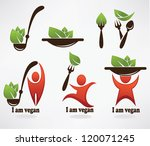 vector collection of healthy... | Shutterstock .eps vector #120071245