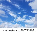 blue sky  white cloud. | Shutterstock . vector #1200713107