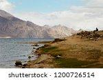 pangong lake in ladakh  north... | Shutterstock . vector #1200726514