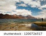 pangong lake in ladakh  north... | Shutterstock . vector #1200726517