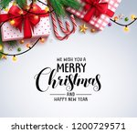 christmas greeting vector... | Shutterstock .eps vector #1200729571