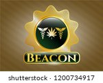 golden emblem with medicinal... | Shutterstock .eps vector #1200734917