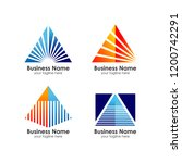 business pyramid logo design... | Shutterstock .eps vector #1200742291