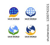 save earth logo design template.... | Shutterstock .eps vector #1200742321