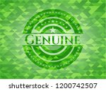 genuine realistic green emblem. ... | Shutterstock .eps vector #1200742507