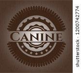 canine wooden emblem. vintage.   Shutterstock .eps vector #1200742774