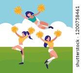 avatar cheerleader women design | Shutterstock .eps vector #1200758461