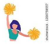 cheerleader girl icon | Shutterstock .eps vector #1200758557
