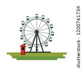 ferris wheel design | Shutterstock .eps vector #1200761734