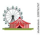 carnival circus design | Shutterstock .eps vector #1200761767