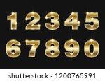 set numbers 0  1  2  3  4  5  6 ... | Shutterstock .eps vector #1200765991