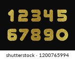 set of foil numbers from 0  1 ... | Shutterstock .eps vector #1200765994