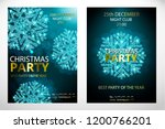 set of posters with cyan... | Shutterstock .eps vector #1200766201