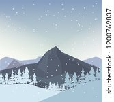 winter mountains pine... | Shutterstock .eps vector #1200769837
