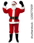 santa   the boxer  celebrating... | Shutterstock . vector #120077059