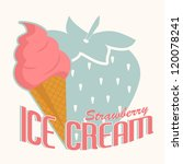 label for strawberry ice cream | Shutterstock .eps vector #120078241