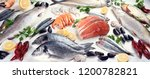 fresh fish and seafood. healthy ... | Shutterstock . vector #1200782821