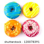 colorful delicious donuts... | Shutterstock . vector #120078391
